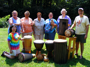 drum building and reheading workshop group photo
