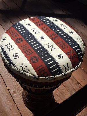 djembe drum hat protective cover made from African cloth from Senegal