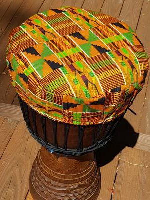 kente cloth djembe drum hat protective cover